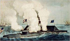 deux bateaux en combat