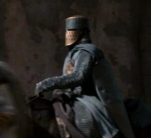un chevalier du XIIème siècle sur son cheval