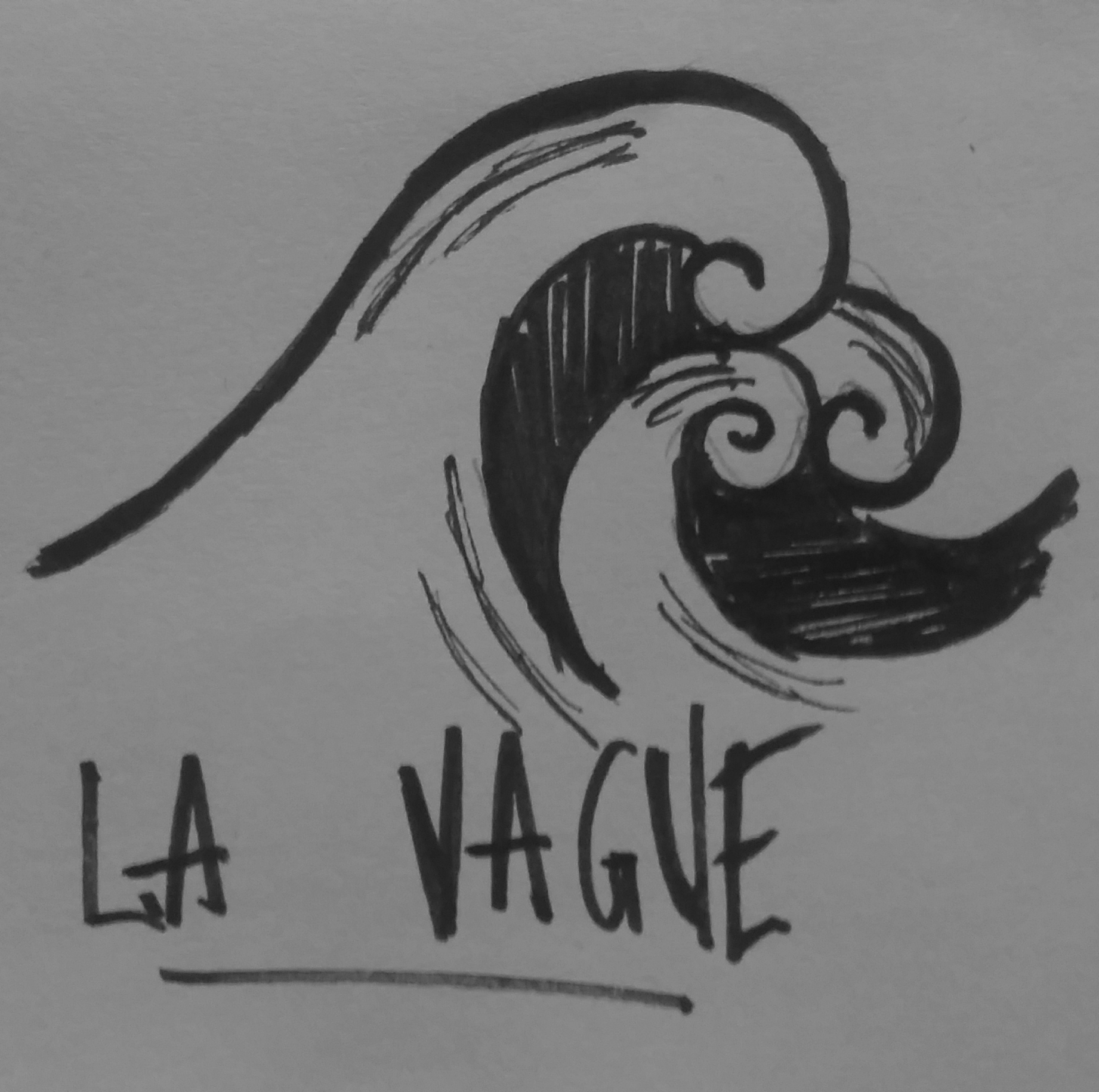 dessin de vague