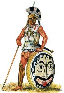hoplite grec en armure